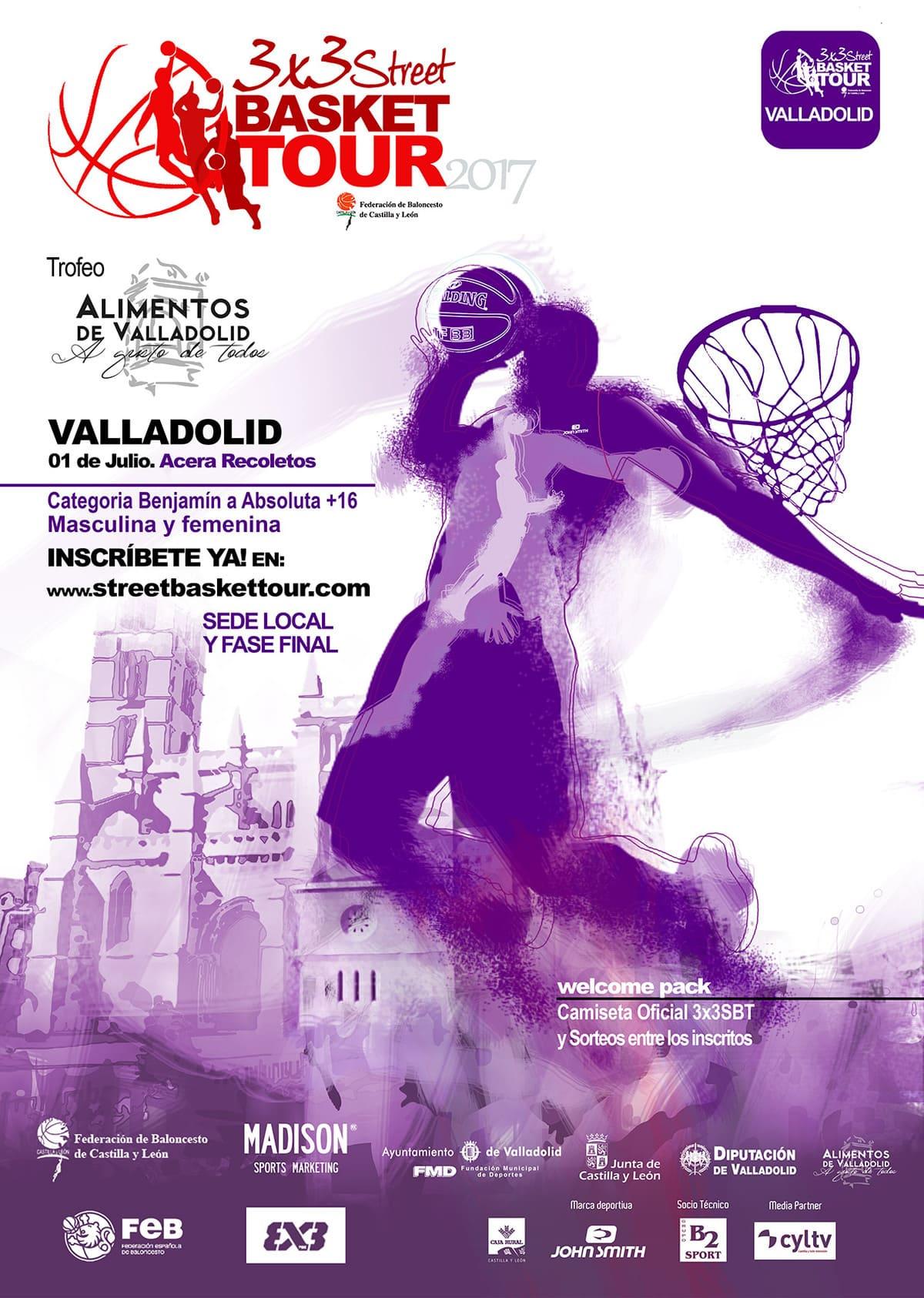 Cartel Mail de Valladolid 3x3 SBT 2017
